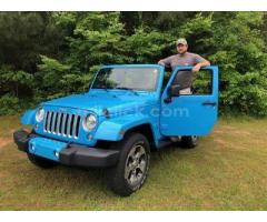 Jeep Sahara 2017 Chief Blue, perfect condition, both tops, 19,788 miles - Little Rock AFB - Image 1
