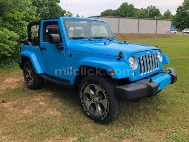 Jeep Sahara 2017 Chief Blue, perfect condition, both tops, 19,788 miles - Little Rock AFB - 2